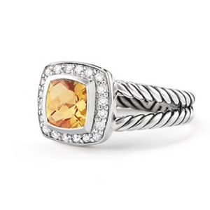 David Yurman Petite Albion Ring Citrine & Diamonds